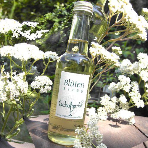 Bio-Blütensirup Schafgarbenblüte