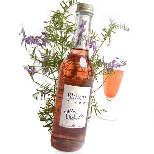 Bio-Blütensirup Wickenblüte, wilde