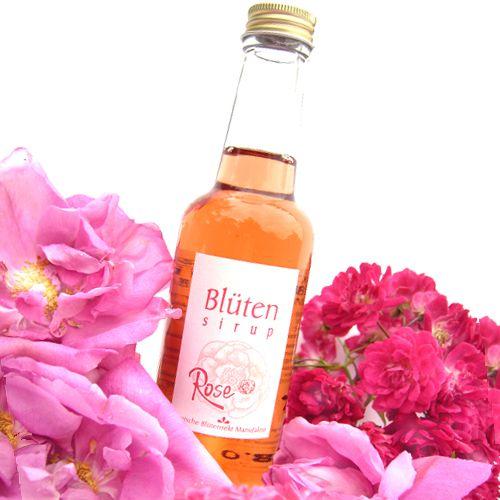 Bio-Blütensirup Rosenblüte