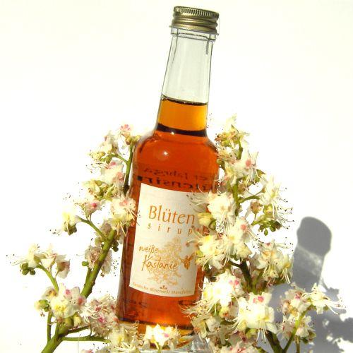 Bio-Blütensirup Kastanienblüte, weiße