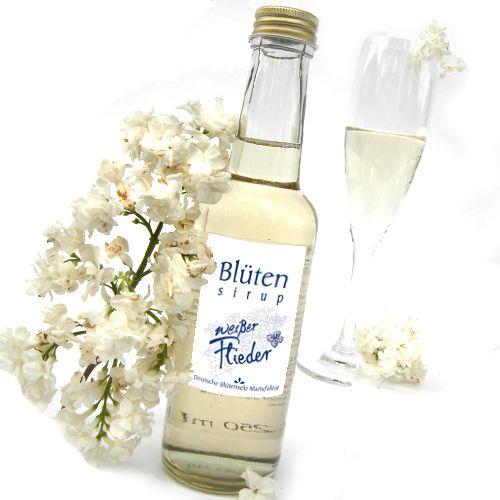 Bio-Blütensirup Fliederblüte, weiße